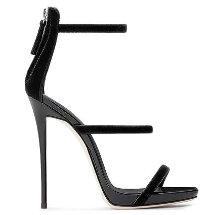 5c1117b420e Amazon.com: FCXBQ Stiletto Sandals, Patent Leather High Heels Open ...