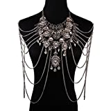 Holylove Vintage Punk Crystal Body Jewelry for Decoration Photography Prop Collections Party with Gift Box-BN622