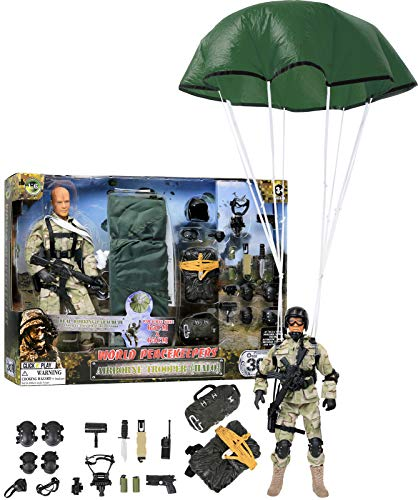 Inch Figures Military 12 (Click N' Play Military Airborne Paratrooper 12