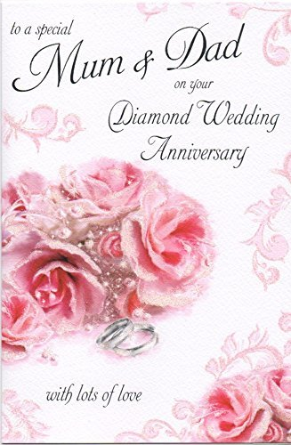 To a special mum and dad on your 60th diamond wedding anniversary to a special mum and dad on your 60th diamond wedding anniversary large greeting card gr034 m4hsunfo