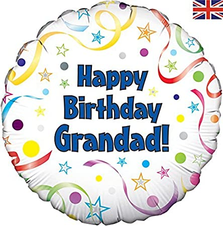 Amazon Happy Birthday Grandad Balloon Despatched Flat Packed Health Personal Care