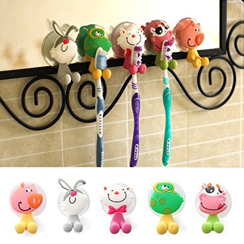 Creative Cute Cartoon Animal Powerful Sucker Toothbrush Holder