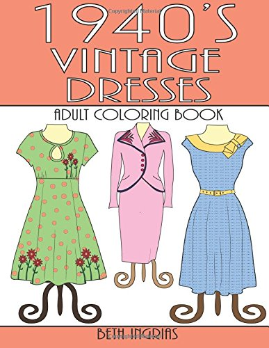 1940s Vintage Dresses Adult Coloring product image