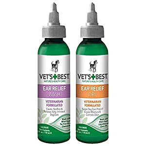 Vet's Best Dog Ear Cleaner Kit, Ear Relief Wash & Dry