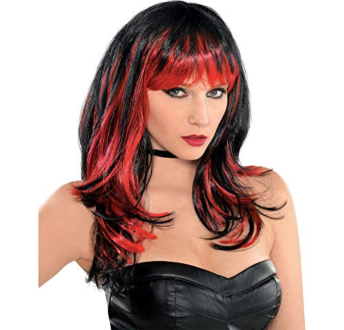 AMSCAN Enchantress Wig Halloween Costume Accessories, Red and Black, One Size