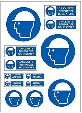 Planche A4 de stickers Badge obligatoire autocollant adhésif C84