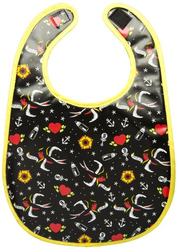 Mom & Dad Tattoo Flash Print Baby Bib from Sourpuss Clothing for $<!--$9.99-->