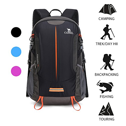 Camel Waterproof Hiking Backpack Travel Backpack Outdoor Backpack Lightweight & Durable