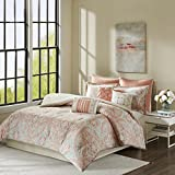 Grace 9 Piece Cotton Comforter Set Coral King