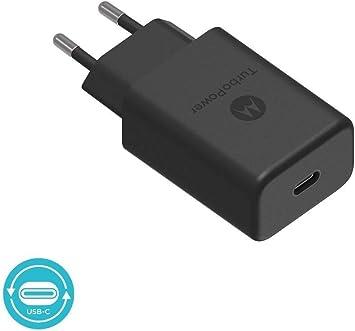 Motorola Original- TurboPower 27W Cargador PD con 1m (3.3ft) USB-C a USB-C datos / cable de carga en Retail Box con etiqueta de autenticación Motorola y Guía del usuario: Amazon.es: Electrónica
