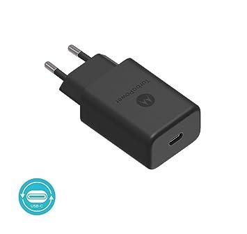 Motorola Original- TurboPower 27W Cargador PD con 1m (3.3ft) USB-C a USB-C datos / cable de carga en Retail Box con etiqueta de autenticación Motorola ...