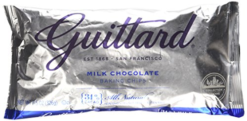 Guittard, Real Milk Chocolate Baking Chips, 11.5oz Bag (Pack of 4) ()