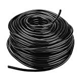 Drip Irrigation Tubing, 4/7mm PVC Flexible Micro Drip Irrigation Distribution Tubing Pipe for Industrial Agriculture Lawn Garden Watering(50m)