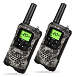 Kids Walkie Talkies, UOKOO Walkie Talkies for Kids 22 Channel FRS/GMRS Two Way Radio Up to 3KM UHF Handheld Walkie Talkies, Toys for 5-year Old Boys, Gifts for 7-year Old Boys and Girls (T48-Camo)
