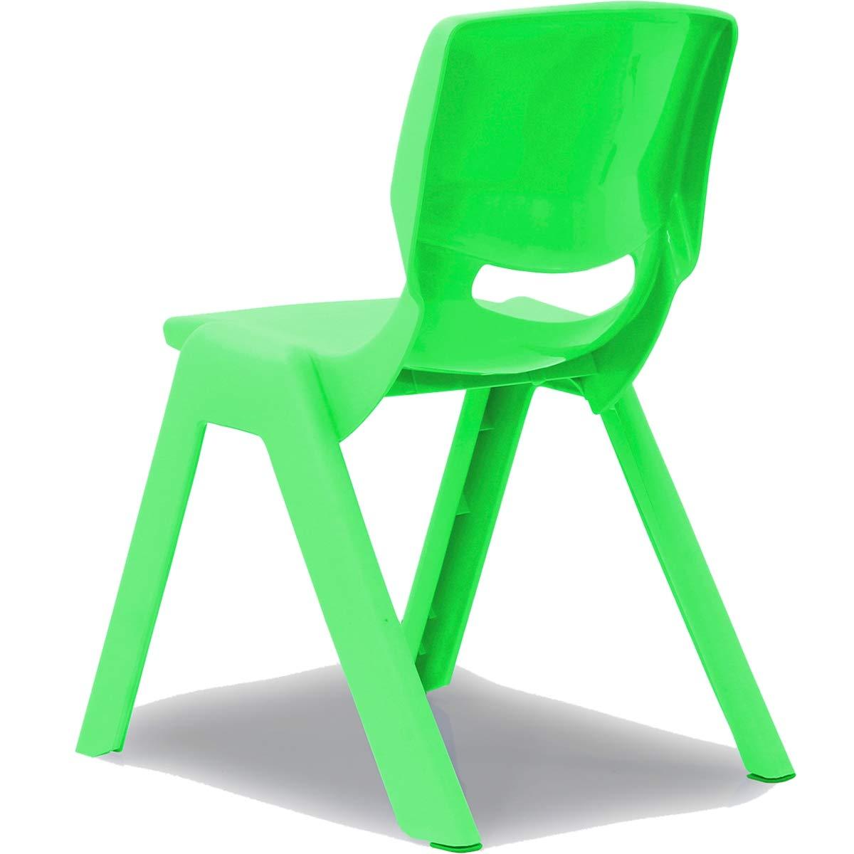 Blau Kinderstuhl mit R/ückenlehne bis 100kg belastbar stapelbar und kippsicher Indoor und Outdoor geeignet aus Kunststoff