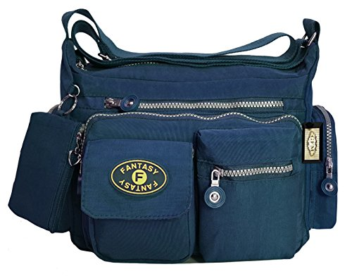Sac de 8998GHNL Blue femme Sac Messenger à bandoulière léger Style en Navy multiples GFM pour Croix sac Corps Poches tissu 0 40wxWCPq