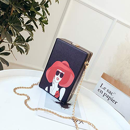 Sac de Sac bandoulière Messenger à coréenne Fille Sauvage marée Fashion chaîne Femme WSLMHH Sac Version la Box Beauté Petite Y6wH5H