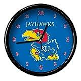 NCAA The University of Kansas Official Black Rim Basic Clock, Multicolor, One Size
