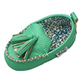 Firefrog Baby Boys Girls Solid Tassels Soft Sole Stitching Moccasins Loafer Shoes Green 6-12 Month | amazon.com