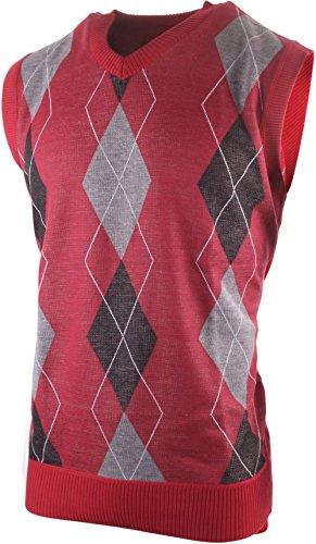 Red Argyle Sweater Vest - 4