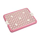 Awtang Pet Training Toilet Small Sized Dog training Tray for Pets' Defecation Puppy Dog Potty Training Mesh Pad Pink