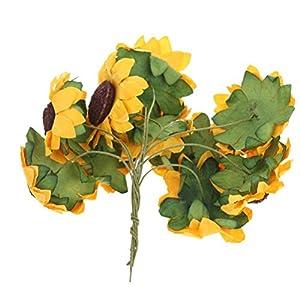 100pcs Artificial Flower Sunflower Bouquet for Home Wedding Decoration 3