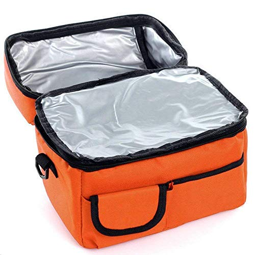 (iLXHD 8L Adult Lunch Box Insulated Lunch Bag Large Cooler Tote Bag for Men, Women, Double Deck Cooler)