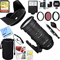 Sigma 50-500mm F4.5-6.3 APO DG OS HSM for Minolta Sony + 64GB Ultimate Filter & Flash Photography Bundle - 738205