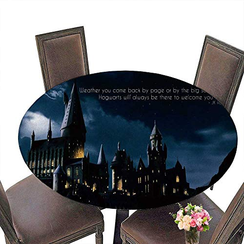 PINAFORE Round Table Tablecloth Harry Potter Paper hd for Wedding Restaurant Party 43.5