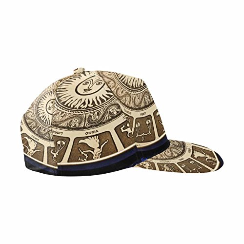 Zodiac Hat - InterestPrint Astrological Plate with All Signs of Zodiac All Over Print Snapback Hat
