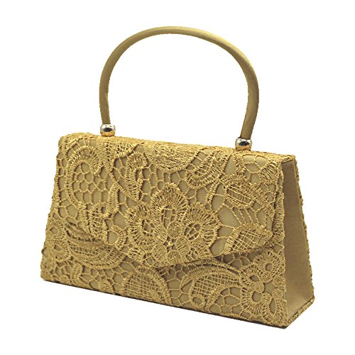 Bag Envelope Purse Handbag Party Women Prom Clutch Bride Handle Clutch Top Gold Cckuu Ivory w6xXYaqx