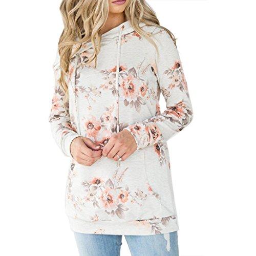 AIMTOPPY Women Girl Hoodie Print Sweatshirt Long Sleeve Crop Jumper Pullover Tops (m, (Nautical Crop)