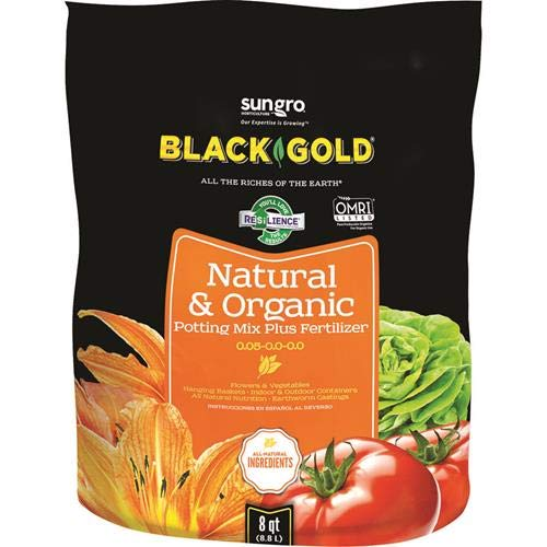 Black Gold 1302040 8-Quart All Organic Potting