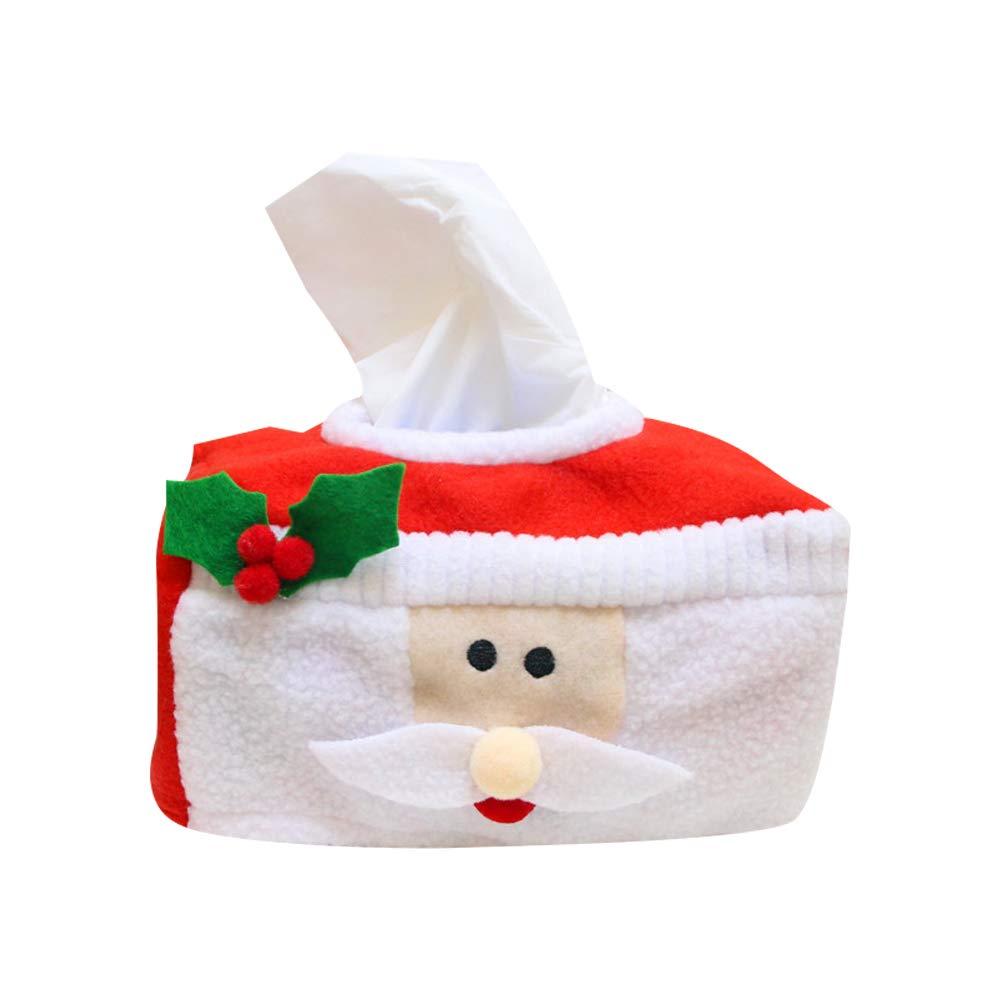 Xiton Manta Caja de pa/ñuelos Chic Franela Suave Caja de Navidad Linda Cubrir Caso Soporte de Papel higi/énico Toalla de Papel de Navidad mu/ñeco de Nieve