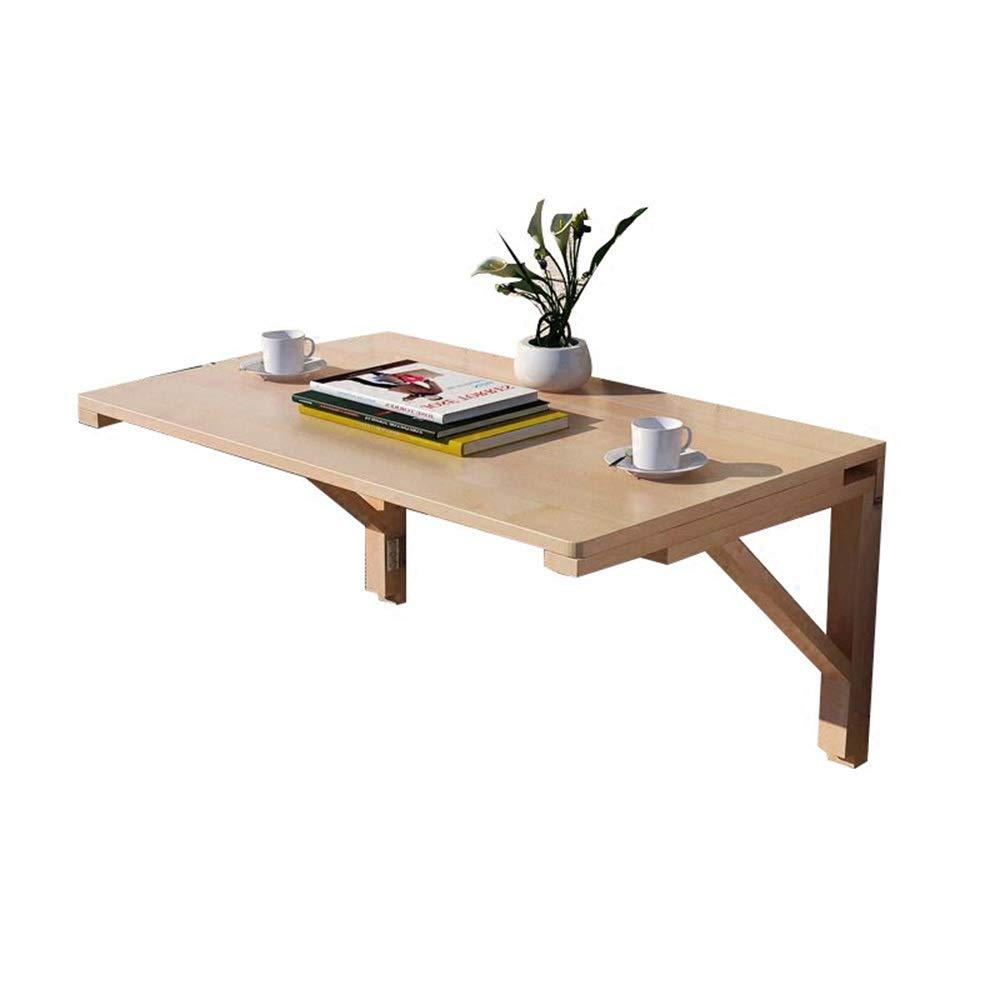 YANFEI 折りたたみテーブル, ウォールテーブル、キッチン&ダイニングテーブルデスクログカラー80 * 50 * 40 cmを折る木製の机   B07NQJM7WJ