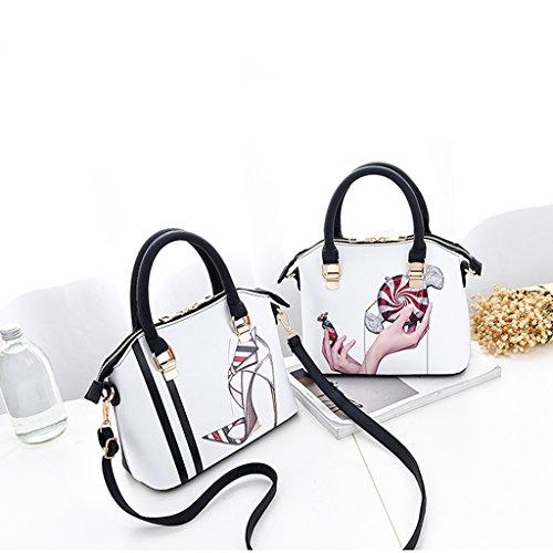 Bolso de de Verano Tendencia del Bolsa Mensajero de Casual Moda Las la Versión Señoras Candy Coreana de de de Hombro XZqY78Ynw