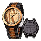 Engraved Wooden Watches, Personalized Engraved...