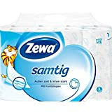 """Zewa Toilettenpapier """"Samtig"""" 3-lagig, 24 x 140 Blatt (24 Rollen)"""