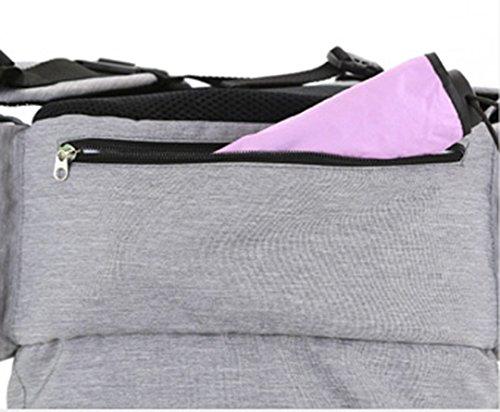 Bolsa de la momia, bolso de hombro, de gran capacidad de múltiples funciones bolso de la madre de la moda, bolsa de la madre y el bebé, salir a producir mochila ( Color : Rosa Roja ) Azul oscuro
