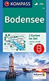 Bodensee: 2 Wanderkarten 1:35000 im Set inklusive Karte zur offline Verwendung in der KOMPASS-App. Fahrradfahren. (KOMPASS-Wanderkarten, Band 11)