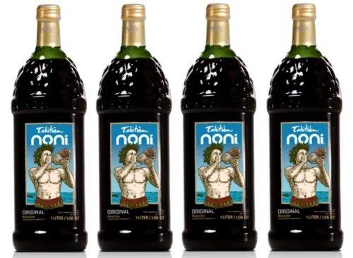 Tahitian Noni Juice Authentic - CASE OF 4 x 1 LITTER. BOTTLES! from Morinda Inc. Tahitian Noni Brand