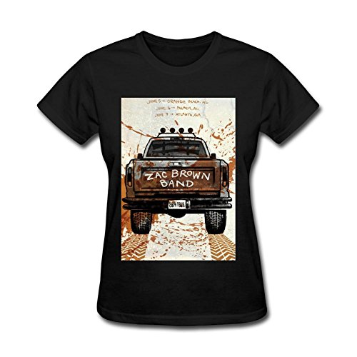 Tommery Women's Zac Brown Art Design Short Cotton T Shirt (Bowle Halloween)