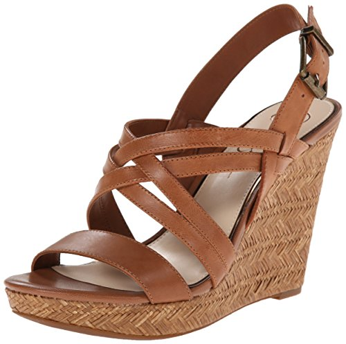 Jessica Simpson Women's julita Wedge Sandal, Light Luggage, 7 M US