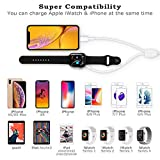Apple Watch Charger, 2 in 1 iphone Charger With 3.3ft/1.0m Portable Apple MFi Certified Magnetic Charging Cable Compatible with Apple Watch Series 4/3/2/1, iPhoneXR/XS/XS Max/X/8/8Plus/7/7Plus/6/6Plus