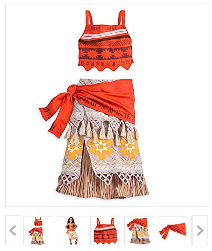 NEW Disney Store Moana Costume for Girls - size 9/10 (Costumes Store)