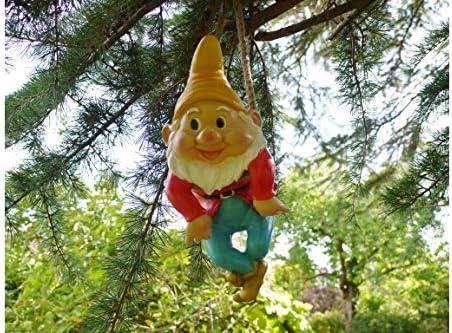 Figura de gnomo escalada para jardín, decoración de árboles, figura de hada, sombrero de gnomo, amarillo: Amazon.es: Hogar