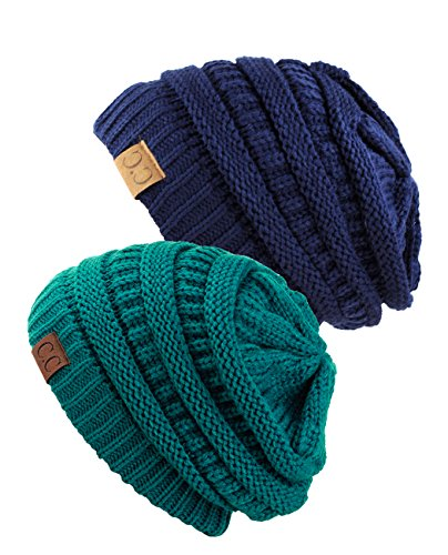 Knitting Items In Dubai : Unisex trendy warm chunky soft stretch cable knit slouchy