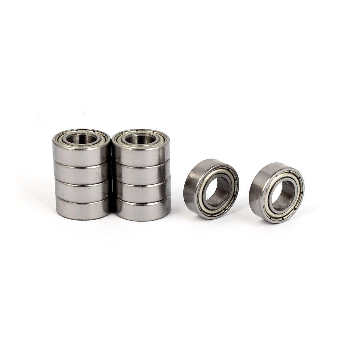 uxcellZZMR126 12mm OD 6mm Bore Diameter Deep Groove Ball Bearing 10pcs