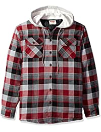 Men's Authentics Long Sleeve Quilted Lined Flannel Shirt...