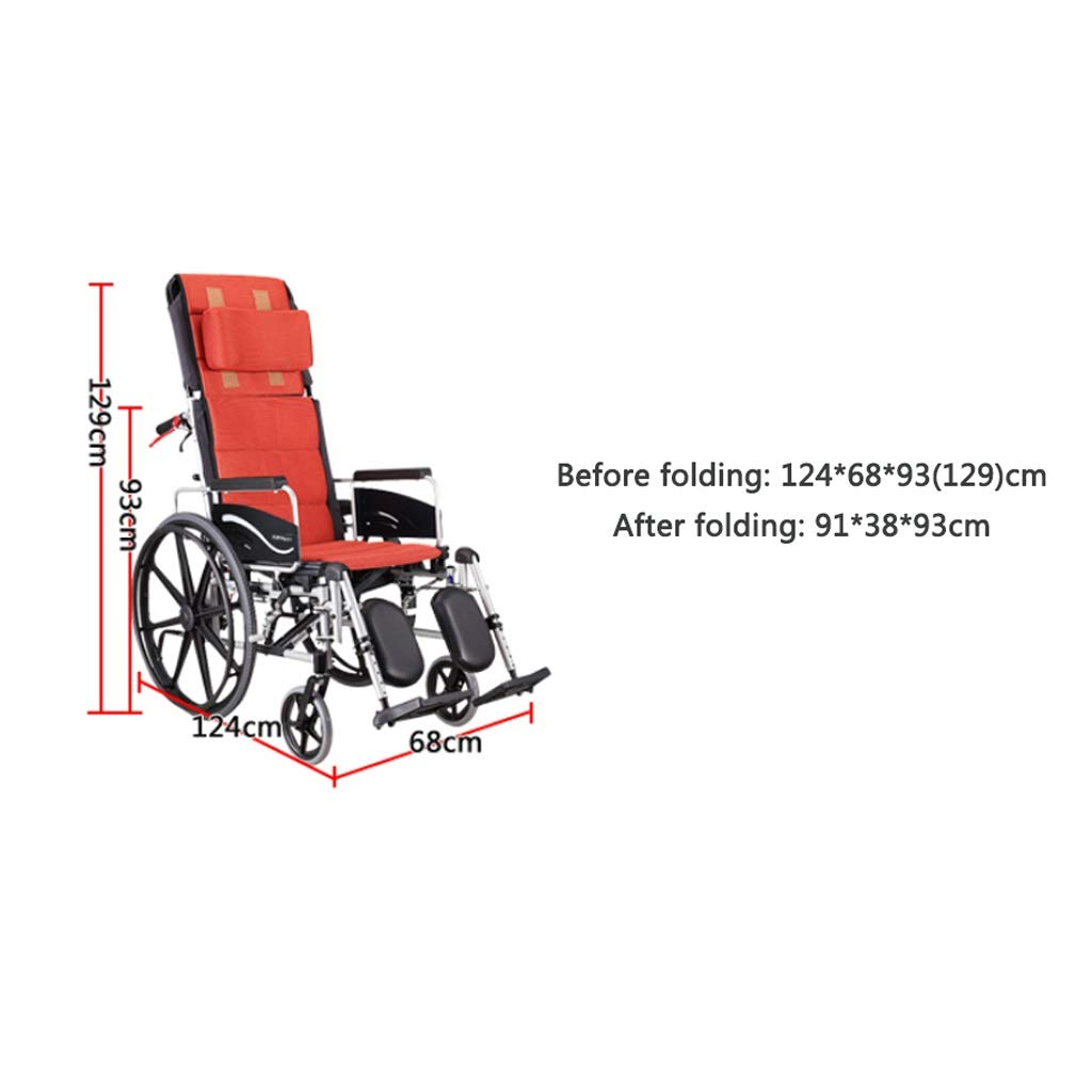 Amazon.com: YE ZI Silla de ruedas reclinable – silla de ...